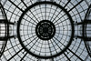 Looking up into the center circle - Grand Palais - Explored! (Monceau) Tags: grandpalais paris lookingup ceiling roof glass iron circle radiating lines explore explored 161365 365 pictures 2018 365picturesin2018 365the2018edition 3652018 day161365 10jun18