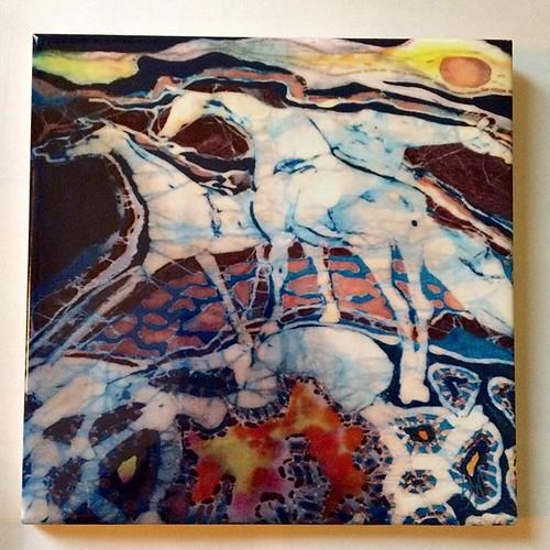 Excited to share the latest addition to my #etsy shop: Horse Trivet - Spirit Horse - Crossroad - Batik Ceramic tile https://etsy.me/2y4plTP. #batik #spirithorses #arttile #ceramictile #gift #amityfarmbatik