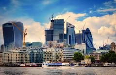 Fantastic London .. (Julie Greg) Tags: london river city cityscape colours fujifilm england buildings architecture sky building boat