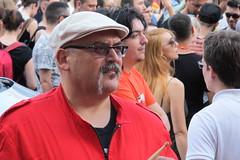 Zagreb - Gay Pride 6 (Damir-D) Tags: gay parade pride man portrait red moustache