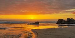 Pacific City Sunset with stream (Wayne~Chadwick) Tags: