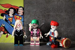 girl power (notatoy) Tags: lego marvel dc gwenpool spider gwen harley quinn super heroes girls
