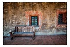 Have a Seat (Terry L. Olsen) Tags: bench california sanjuancapistrano mission nikcolorefexpro4