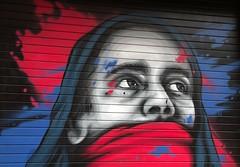 London Streetart 3 (chriskatsie) Tags: streetart graffiti visage face couleur color paint peinture mur wall