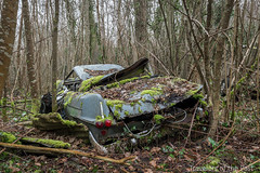 Lost in the Wood 06 (Travelers Of The Past) Tags: lost wood graveyard citroen épave épaves urbex urban exploration urbaine friche decay place forbidden places abandoned abandonné forget forgotten exploring explo explorer explore