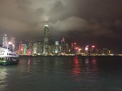 Hong Kong Ferry (emojienglish) Tags: hong kong china ferry kowloon city night skyscrapers cantonese canton asia