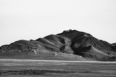 Monotone Mountain (O.S. Fisher) Tags: antelopeisland greatsaltlake utah black blackandwhite monotone mountain rocks rocky rugged stone white