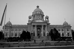 National Assembly of Serbia (Valantis Antoniades) Tags: serbia belgrade house national assembly republic parliament architecture monochrome black white