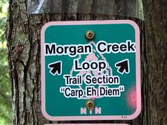 Carp Eh Diem (yooperann) Tags: morgan creek loop sign bike trail marquette upper peninsula michigan