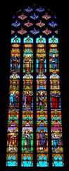 Temps de Flors (sin flor) 6 Girona, Catalunya (chriskatsie) Tags: église church cathedrale vitrail stainedglass color couleur