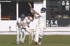 Cricket (Kentish Plumber) Tags: cricket ball white stumps pitch pads bat wicket gloves grass sport game southborough kent southboroughcommon