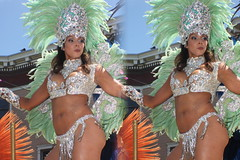 IMG_8340 (tam3d) Tags: tam3d carnavalsf carnavalsf2018 carnaval sfcarnaval sf missiondistrict parade festival costume dancer samba model models portrait fashion sanfrancisco 3d stereoscope stereophotography stereoimage crosseyed crossview loreo people party