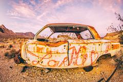 Dreadful Selfish Crime (Thomas Hawk) Tags: america dv2011 googledeathvalleyphotowalk2011 loveme nevada rhyolite usa unitedstates unitedstatesofamerica abandoned car ghosttown graffiti fav10 fav25