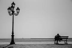 La panchina dei pensieri (fiore_lla4ever) Tags: bench thought sea side black white lightroom canon eos 6d flower