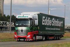 eddie stobart europe  belgium, something different from me (GJS PHOTOGRAPHY) Tags: flickr photography photo camera canon roadtrip road trip tunnel euro belgie mercedes trucking lorry green truck genk belgium europe eddie stobart