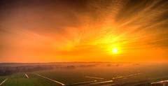 Hazy fog. (Alex-de-Haas) Tags: dji dutch europa holland nederland nederlands netherlands noordholland phantom phantom4 phantom4pro schoorl uav aerial aerialphotography air drone landscape landschaft landschap lente lucht luchtfotografie polder skies sky skyscape spring sundown sunset village zonsondergang warmenhuizen nl