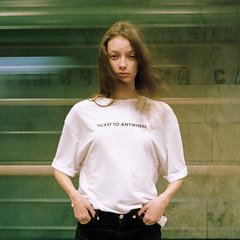 Ticket to anywhere (dmitry sovyak) Tags: 120mm analog autocord film grainisgood kodak mediumformat portra portra400 tlr portrait girl model underground moscow