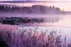 Summer dawn (BirgittaSjostedt) Tags: landscape lake water bout bridge summer dawn magic color pink sunrise haze fog fineart texture birgittasjostedt
