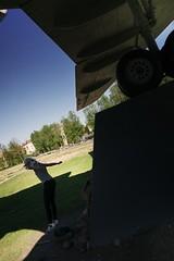 jumping off an airplane... (f_lynx) Tags: sonya9 sonyfe282 flynx girl kid child smolensk russia airplane як42 park green shadows shadow jump hands leg fun wing wheel monuments monument blue sky 2x3 street