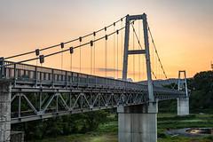 Kawaba bridge right side (kellypettit) Tags: bridge sunset sunrise ricefields countryside