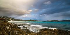 A Cloudy Day in Paradise (tquist24) Tags: caribbean caribbeansea nikon nikond5300 prettyklippoint sapphirebeach stthomas usvirginislands virginislands beach clouds cloudy geotagged island longexposure ocean rock rocks sky tropical vacation water wave