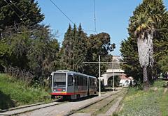 MUNI Nr. 1445 Mission Dolores Park (Bus und Bahn by SF) Tags: breda lrv sanfrancisco muni munimetro strassenbahn streetcar tram stadtbahn