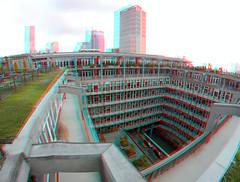 Dak Groothandelsgebouw Rotterdam 3D GoPro (wim hoppenbrouwers) Tags: dak groothandelsgebouw rotterdam 3d gopro anaglyph stereo redcyan roof dakendagen
