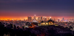 Downtown LA (photoserge.com) Tags: griffithpark malibu view night photography colors sunset architecture building landscape cityscape