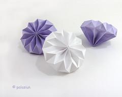 paper diamonds (polelena24) Tags: origami onesheet diamond crystal corrugated decoration