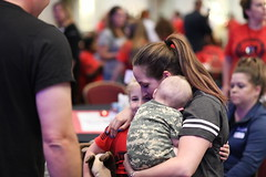 2018_NMSS_Sun_Jeff 70 (TAPSOrg) Tags: taps tragedyassistanceprogramforsurvivors tapsseminar nationalmilitarysurvivorseminar nmss arlingtonva crystalmarriottgateway survivor militaryloss 2018 military sunday jeffbeggs familybbq graduation indoor horizontal woman baby infant girl kid child candid hug group