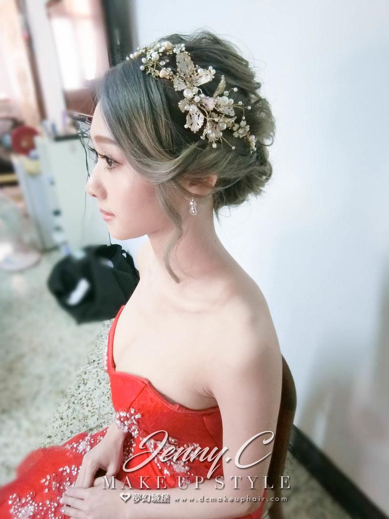 【新秘蓁妮】bride沛婕 訂婚造型 / 台中自宅