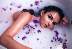 Flower (∤ Esther ∤) Tags: flowers flower woman women girl bath water underwater beauty beautiful canon canon7d portrait selfportrait skin eyes hair