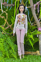 """""""In Bloom"""" collection. Tops, pullovers, pants, skirts, jackets and other fashions for your dolls (elenpriv) Tags: pullovers pants inbloom collection top 12inch fr2 ayumi luminous fashionroyalty integrity toys jason wu doll handmade clothes elenpriv elena peredreeva"""