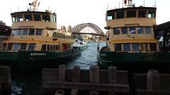 Circular quay (Miradortigre) Tags: bridge sydney australia ferry quay circular sea mar harbour bahia