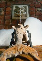 DSC_4393 (Grudnick) Tags: amermaidstale amermaidstail ornament waterfeature brick bubbles kitsch yardkitsch fountain topless wideangle 18mm d70 nef png nikon