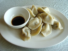 Chive and Pork Dumplings (knightbefore_99) Tags: chive pork dumplings alvins vancouver chinese work food lunch sauce dip awesome asian tasty great more burnaby imperial