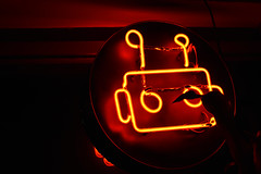 Robo Robo (Louis P.) Tags: neon red robot bar night life nightlife ottawa ontario show music showbar barrobo