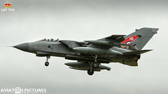 Panavia Tornado GR4 ZG752 '129' (Aviation-Pictures.co.uk) Tags: panavia tornado jet bomber air force aviation pictures military dan foster raf 100 raf100 sticker stickers special tail scheme