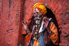 Colourful Sadhu 3013 (Ursula in Aus (Resting - Away)) Tags: asia kathmandu nepal pashupatinath ggphotoworkshop