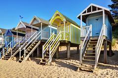 Beach huts at Wells-next-the-Sea, Norfolk (Baz Richardson (now away until 20 July)) Tags: norfolk wellsnextthesea beachhuts sandybeaches coast