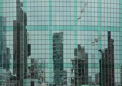 Reflection in green (mennomenno.) Tags: reflections reflecties wtcgebouw wtcbuilding opendakendagen vanafdebijenkorf rotterdam