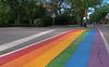 Pride Crosswalk (Gerry Marchand) Tags: olympus omd em5 pride crosswalk street lgbtq rainbow saskatoon saskatchewan canada