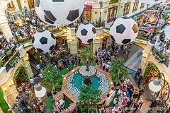 The interior of the Trading House GUM. Moscow, Russia (wws001) Tags: russia rusland russian redsquare gum moscow fountain balls football soccer footballballs soccerballs interior tradinghouse trading fifa fifaworldcup worldcup cup world 2018 worldcup2018