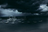 Summer Storm (stephjfs) Tags: storm nature beach pier clouds cloudy stormy dark water ocean boats reflection day sony a6000