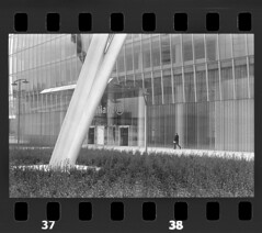 NCP_005 (nocrop.project) Tags: ncp nocropproject filmphotography filmisnotdead grainisgood istillshootfilm monochrome blackandwhite 35mmfilm analogue photography darkroom neorealism streetphotography ordinarylife architecture little humans milan italy isozaki tower fomapan 400 selfdeveloped canon ae1 grain is good