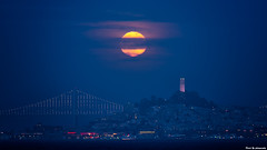 Full Moon (davidyuweb) Tags: full moon sanfrancisco coit tower landmarks 三藩市 滿月