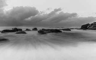 Dramatic Seascape in Black and White
