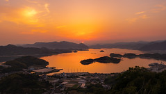 Carmine Red Sunset (Art Fiveone) Tags: onomichi shimanami innoshima japan sunset 尾道 しまなみ海道 因島 日本 夕焼け