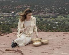Daughter Amber with her singing bowls (Jodi's Journeys) Tags: amber canon energyvortex himalayansingingbowls jodisjourneys jodinewellgmailcom sedona travel zen