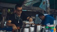 Street Barista (Shane Hebzynski) Tags: bangkok thailand people man barista market vendor
